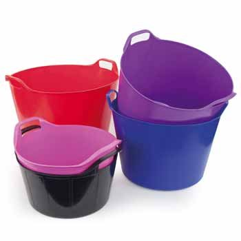 Easi Range Trug Shallow Feeder Cerise Pink- heavy duty and tough -
