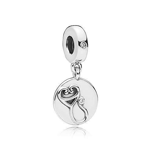 PLOOKIJUH 100% 925 Sterling Silber Dazzling Stethoskop Dangle Charm Clear Bunte Schöne Frauen Original Schmuck Geschenk