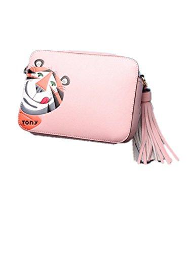 Sterne Quadratische Tiger Pink Schulter Mode Optional 3 Muster Leder Farbe Kleine Messenger Paket HwfqwO