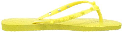 havaianas Slim Candy Schuhe Damen Zehentrenner Badelatschen Gelb 4132594-2827 Gelb