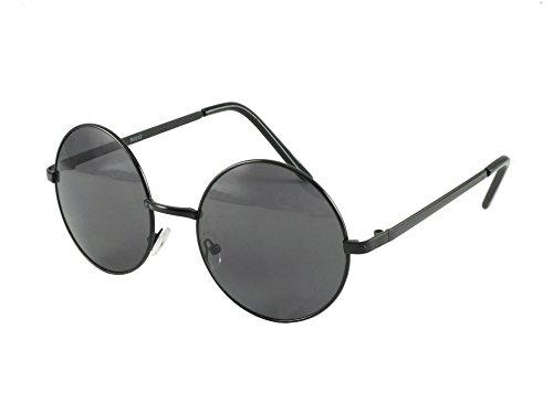 Revive Übergroße Sonnenbrille im Lennon-Stil, 2012_BLK, Schwarz, 2012_BLK
