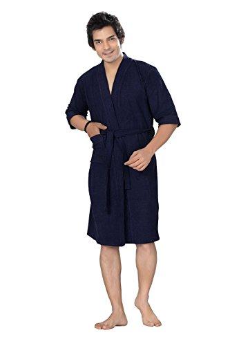 Superior Feelblue Navy Blue Men\'S Bathrobe (Full)