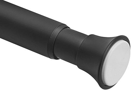 Amazonbasics - bastone per tenda da doccia e da porta, lunghezza regolabile, 91,4 - 137,1 cm, nero