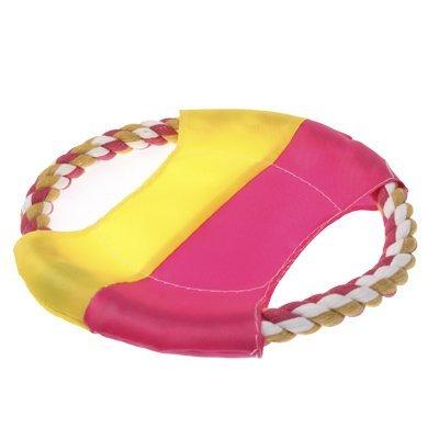 Hunde Frisbee / Wurfscheibe / Wurfspielzeug / Wurfring aus Baumwoll-Seil / Schwimmfähig und Strapazierfähig