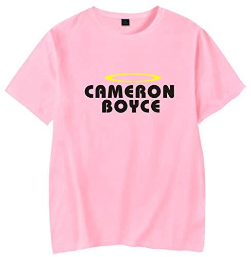 Cameron-damen T-shirt (Yimiao Cameron Boyce T-Shirt Unisex Erinnerung Rundhals Freizeit Top Weste(S))