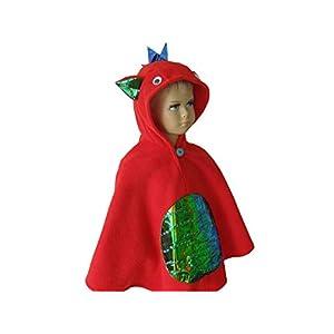 fasching karneval halloween kostüm cape für kleinkinder drache rot