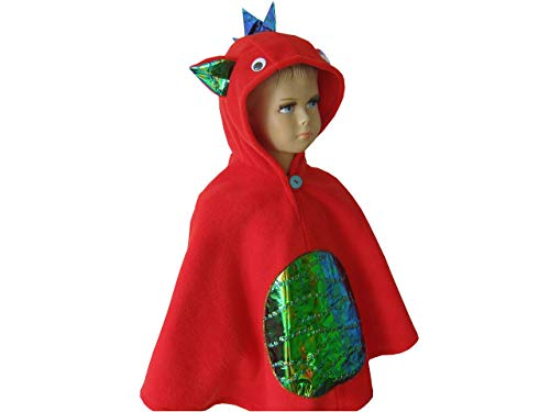 lloween kostüm cape für kleinkinder drache rot ()