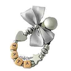 Cadena para el chupete | con nombre adaptable | azul | clips ...