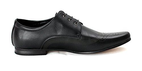 JAS , Chaussures de ville à lacets pour homme ordinaire Noir