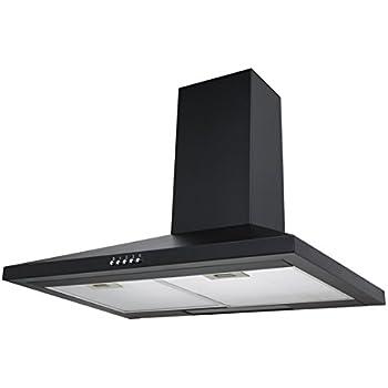 SIA CH71BL 70cm Chimney Cooker Hood Kitchen Extractor Fan In Black