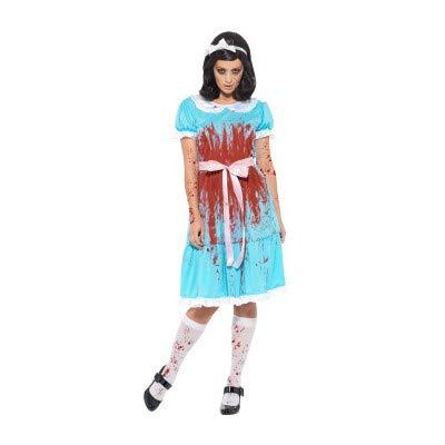 (Smiffys Mörderischer Zwilling - The Shining Halloween Kostüm Damen)