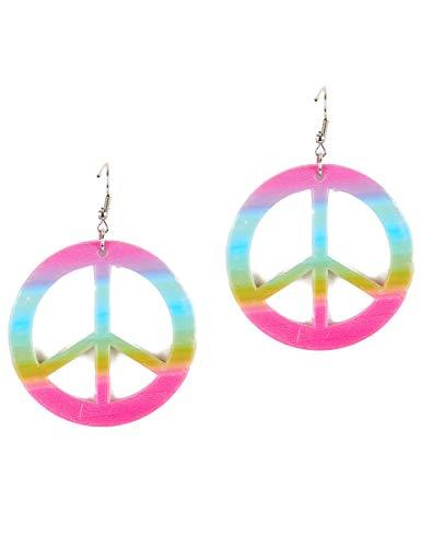 Generique - Peace Hippie-Ohrringe für Erwachsene