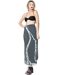 b347ca0bca7d6 Amazon.co.uk: Grey - Cover-Ups & Sarongs / Swimwear: Clothing