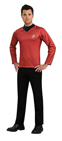 Rubie's Official Scotty Shirt Mens Fancy Dress Star Trek Red