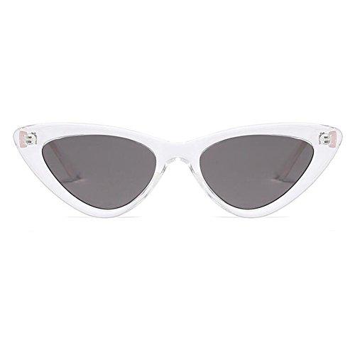 Xinvivion Klassisch Katzenaugen Cat Eye Sonnenbrille - Retro Mode Brillen Sunglasses Damen Frühling Scharnier Klein Rahmen Brille UV400 Linse