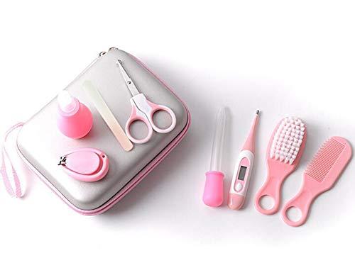 Babypflege Set 9-teiliges Set für Baby Neugeborene Kleinkinder Säuglinge Pflege Inklusive Digitales Thermometer Nasensauger Passender Mini-Kamm Mini-Nagelfeilen Nagelschere