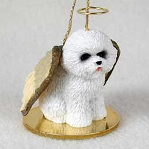 Bichon Frise Tiny One Dog Angel Christmas Ornament by C.C.