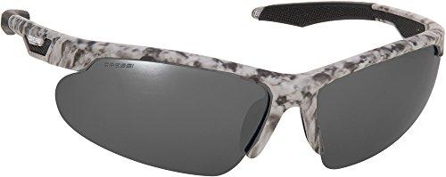 Cressi speed occhiali da sole uomo sportivi avvolgenti, polarizzati, antiriflesso con protezione uv 100%, grigio mimetica/lente nero