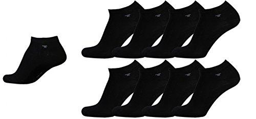 ocken Herren Damen schwarz 8 Paar Mehrpack Kurzstrümpfe Füsslinge Sneakersocken Baumwolle Herren gr. 35-38 39-42 43-46, Größe:43-46 (Zeigen Weniger Socken)