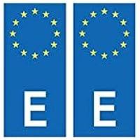Placa autoadhesiva de matriculación con el distintivo europeo de España
