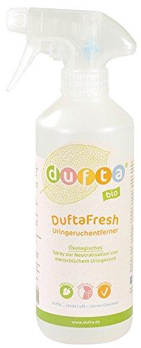 DuftaFresh Uringeruchentferner 500 ml Pumpflasche nachfüllbar recyclingfähig. Wirkt auf Enzymbasis gegen Uringeruch von Menschen Biologisch, vegan, parfümfrei -