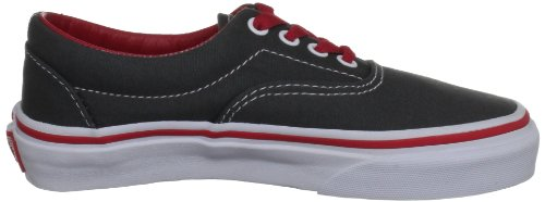 Vans K Era, Baskets mode garçon Anthracite/rouge