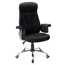 SONGMICS Bürostuhl Chefsessel Drehstuhl Computerstuhl Sitzhöhenverstellung office Stuhl Polsterung OBG41B