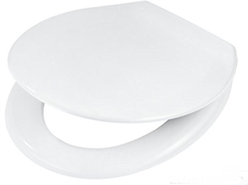WC-Sitz Duroplast Wellwater NOVA mit Absenkautomatik weiss antibakteriell verchromte Scharniere