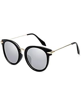 LIZHIQIANG Gafas De Sol Polarizadas Gafas De Sol Retro Gafas Redondas Rostro Femenino Gafas Personalizadas ( Color...
