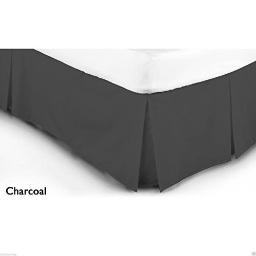 Textile Online Luxury 68 Pick Poly-Cotton Base Valance Sheet Charcoal (Double)