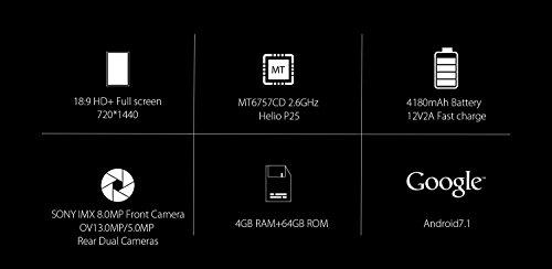 Blackview BV9000 - 5 7 pulgadas  relaci  n 18  9  IP68 Impermeable a prueba de golpes Smartphone Android 7 1  Octa core 2 6GHz 4GB   64GB  Triple c  m