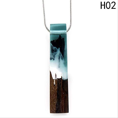 YAYA Vintage des Harzes Aus Holz Juwelen Von Anhänger Halskette Der Frauen Stoff Schwarze Kette Gemacht Hand Maxi Halskette Tiefe Farbe-1 - Vintage Juwel Hals