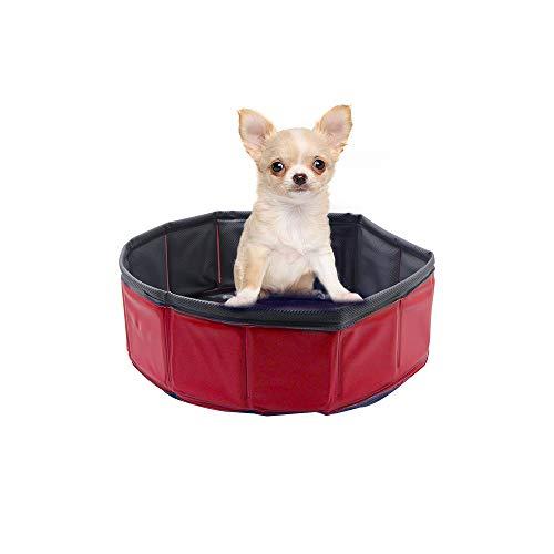 Petilleur Piscina Plegable para Mascotas Piscina para Perros Gatos Patos niños