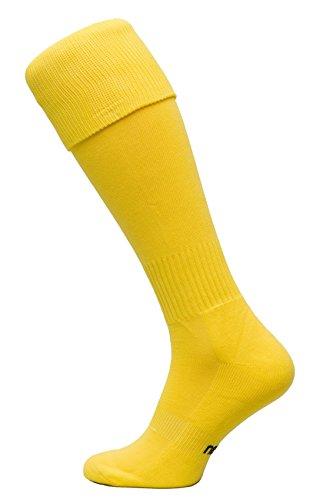 Nessi Fußballstutzen Modell G Fußball Strümpfe Stutzen 100% Atmungsaktiv viele Farben - Gelb, 31-35