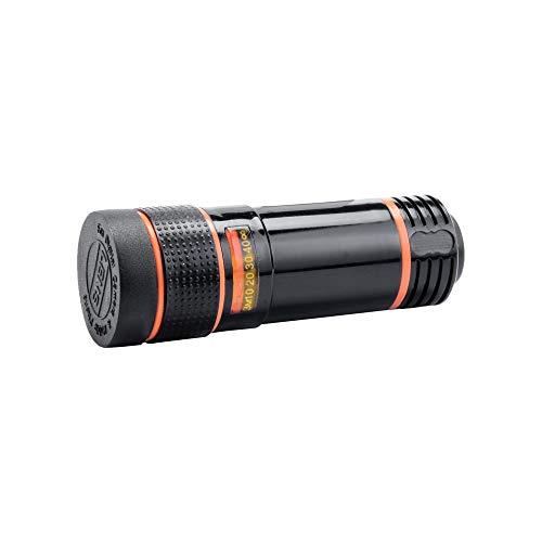 Hengzi HD 12x optischer Zoom-Kamera-Teleskopobjektiv mit Clip für iPhone/Telefon Universal