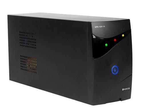 Woxter UPS 1200 VA - Sistema SAI de Alimentación ininterrumpida (1200 VA/720 W, autonomía aproximada 20-30 minutos, fuente de alimentación continua)