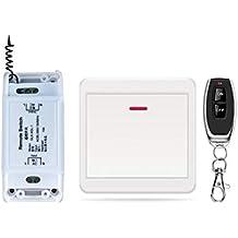 DONJON Interruptor de control remoto inalámbrico,rápido de añadir o reubicar interruptores de encendido/