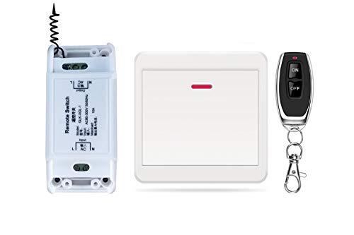 DONJON Interruptor de control remoto inalámbrico,rápido de añadir o reubicar interruptores de...
