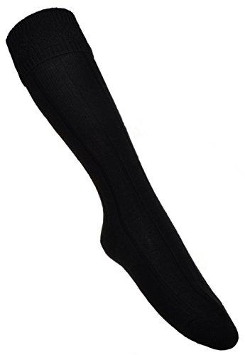 Schwarze KILT Socke- Vielzahl an Größen erhältlich -