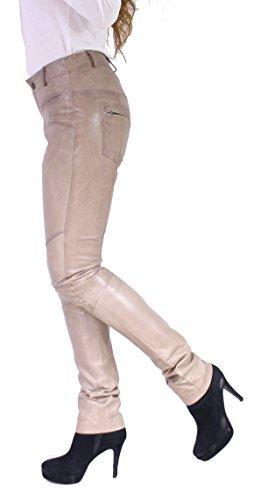 DONNA 2 von RICANO Damen Lederhose, Ziegen Nappa Echtleder Weiß