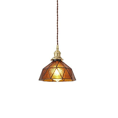 YYDIANZ Kronleuchter Arabischen Stil Einstellbare Antike Industrielle Mini Glas Anhänger Beleuchtung Restaurant Wohnzimmer Schlafzimmer - 20 cm * 14 cm (Farbe: 3 Farben) (Color : Amber) -