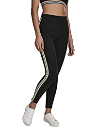 Urban Classics Ladies Multicolor Side Taped Leggings Donna