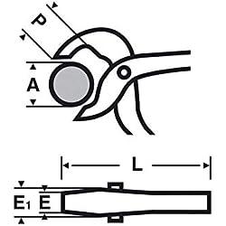 Virax–Pince À Sertir Grande Ouverture avec bouton Fermeture 250mm