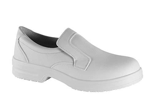 Safe Way Berufsschuhe 00P301 weiß rutschhemmend ohne Schutzkappe (43)