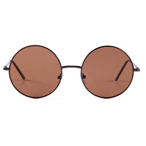 Yangge Yujum Antike Männer Frauen Runde Dekorative Brillen Metall-Rahmen Vintage Unisex-Legierung Brillenfassungen
