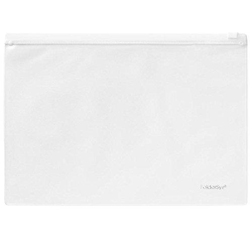 Klarsicht-Sammelbeutel 180x255mm, Plastik-Zip, PVC, Zipp weiß, 10 Stück