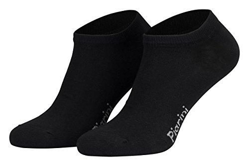 43-46/8 Paar Piarini 8 Paar Sneaker Socken Sportsocken Baumwolle | Ohne Naht | Kurze Unisex Damen Herren schwarz (Herren Low-cut-socken 100 Baumwolle)