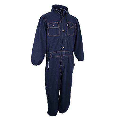 KESOTO 1 Stück Industrieller chemische Schutzanzug Overall Kleidung mit Stift Werkzeuge Schutzanzug - Navy blau, Medium 170-175 - Langarm-deluxe-overall