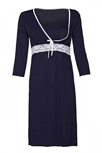 Happy mama. donna prémaman camicia da notte la gravidanza e allattamento. 255p (marina, it 40/42, s)