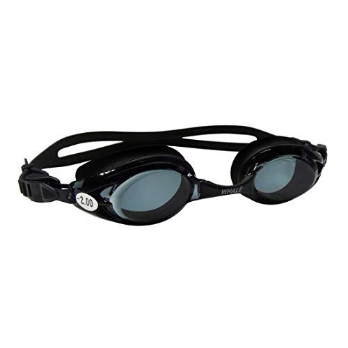 JESSIEKERVIN YY3 Schwimmbrille Schwimmen Gogogur kurzsichtige Übereinstimmung 150 ° - 700 ° Antifogging Glaslinse Tauchen Schnorcheln für Anfänger (Color : Black)